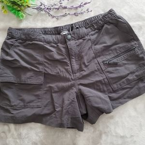 The North Face gray cargo shorts. Size XL